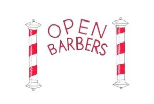 Open barbers logo